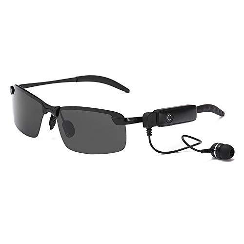 ZWLUCKY Intelligente Bluetooth-Brille, 4,1-Stereo-Bluetooth-Headset Unterstützen Polarisierte Sonnenbrillen Für Musikanrufe Und Ermöglichen Reisen Im Freien,Blackframe