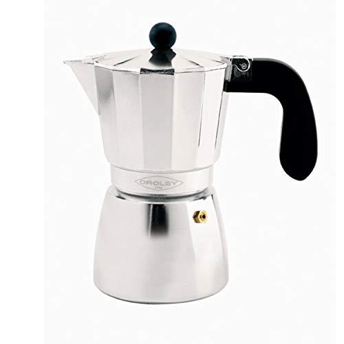 Oroley - Cafetera Italiana Alu de Aluminio, 9 Tazas