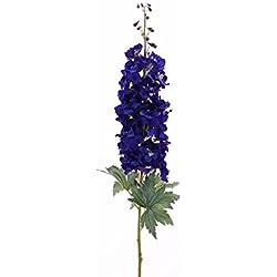 artplants Künstlicher Rittersporn RIKKE, dunkelblau, 95 cm, Ø 15 cm - Deko Blumen/Seidenblume