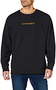 Levi's OVERSIZED CREW W TIPPING JET BLACK Sweatshirt E