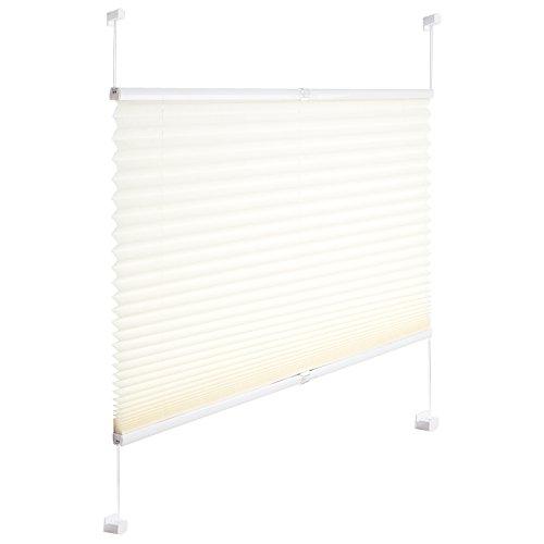 Woltu® #391 tende plissettate per finestra senza fori protezione privacy tende oscuranti avvolgibili