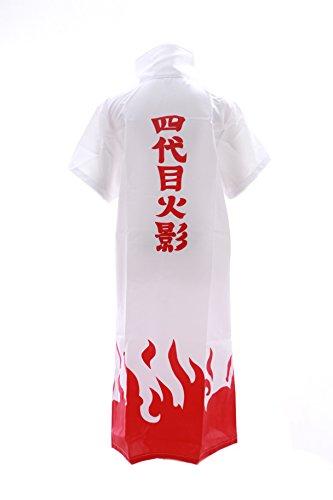 N-03 Naruto Yondaime Hokage Minato Namikaze Cosplay Mantel Umhang Coat Kostüm Kawaii-Story (Gr. XL)