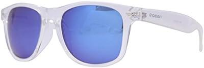 Ocean Sunglasses Beach wayfarer - gafas de sol polarizadas - Montura : Blanco Transparente - Lentes : Azul Espejo (18202.95 )