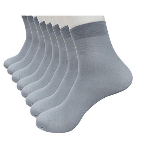 XuxMim 4 Paar Bambusfaser Ultradünne elastische seidige kurze Seidenstrümpfe Herren Socken - Herren-daunen Socken