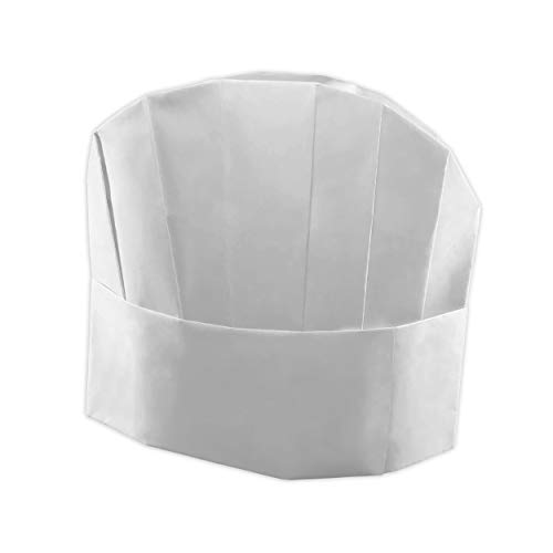 Berkshire Kitchens Kochmütze, 25 Stück Kochmütze aus Papier, verstellbar, inkl. Rezept-E-Book, Weiß Für Erwachsene und Kinder. Perfekt für Kochpartys.
