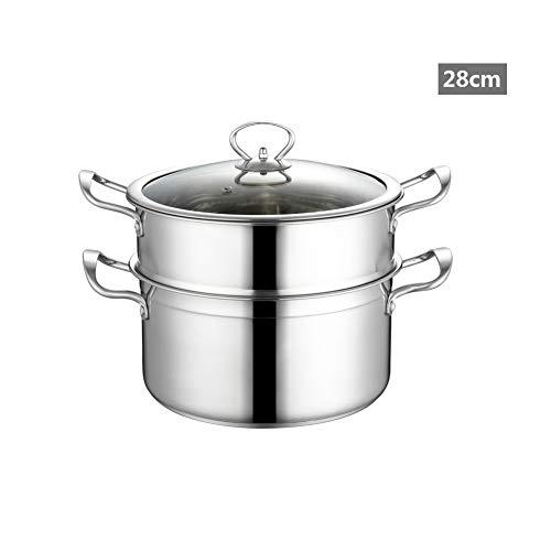 Olla De Sopa Cazuela Olla De Vapor Utensilios De Cocina Antiadherente Acero...