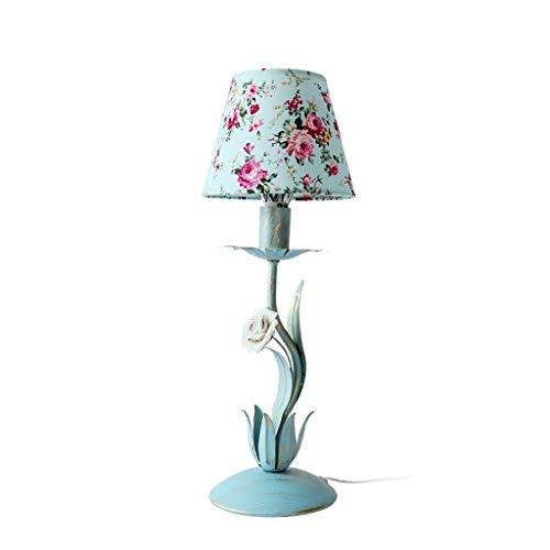 High-quality table lamp Dekorative Tischlampe - Schlafzimmer Schmiedeeisen Blume Garden Style Tischlampe, Nachttischlampe Kinder Prinzessin Zimmer Lampe Nette Beleuchtung