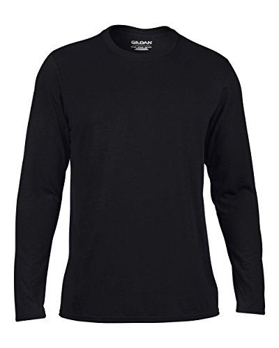 Gildan Performance T-Shirt mit langen Ärmeln, GD121 Schwarz - Schwarz