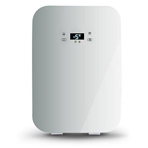 Preisvergleich Produktbild 20L Auto Kühlschrank Mini-Kühlschrank mit Gefrierfach Mini Home-Office-Wohnheim Doppel-Kühlschrank