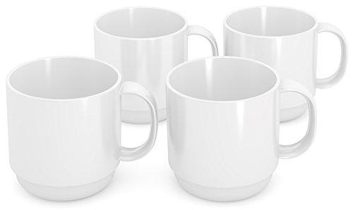 Ornamin 508 Becher, Kunststoff, Weiß, 8 cm, 4-Einheiten