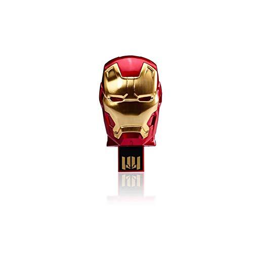USB-Stick Flash Drive Kreativ Karikatur Teleskopisch Marvel Cinematic Universe The Avengers Star Wars Anime Cartoon USB2.0 Flash Drive 4 to 128GB Superhero (64GB, Iron Man 3)