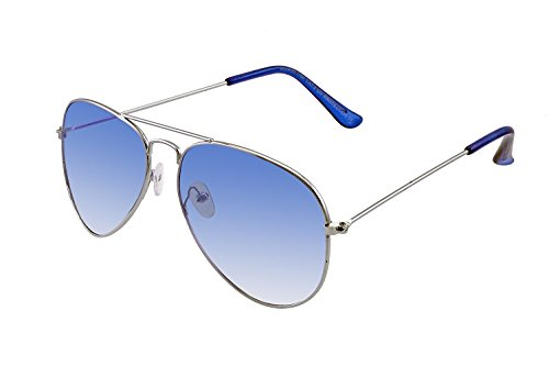 SHVAS AVIATOR Silver Frame Ice Blue Lens Sunglasses - UNISEX
