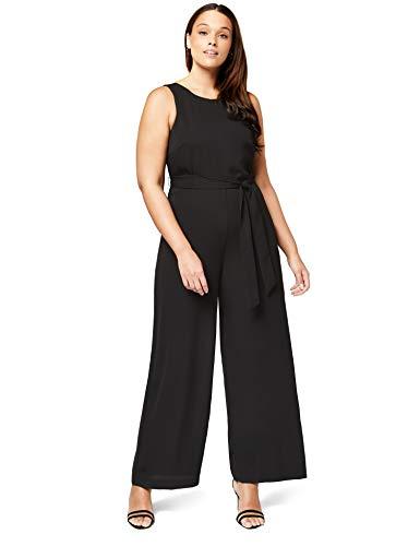 TRUTH & FABLE Damen Jumpsuit Jumpsuit Wrap Back Maxi, Schwarz (Black), 34 (Herstellergröße: 34) - Xxs Maxi-kleid