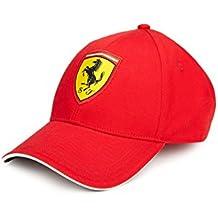 Ferrari rojo Classic gorro de ajustable con bordado Scudetto Badge 313184ab4a0