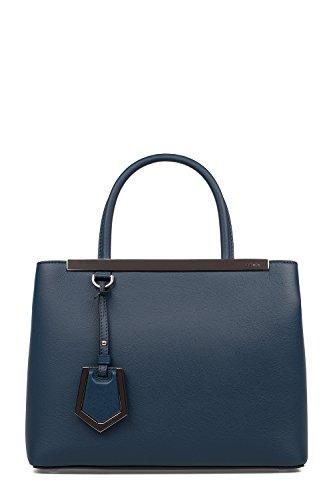 Fendi-Womens-8BH2533WLF07HQ-Blue-Leather-Handbag