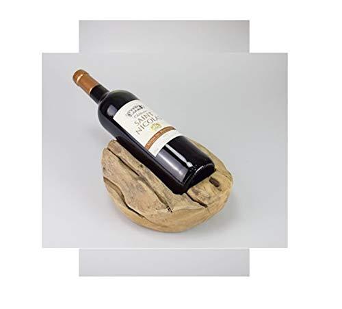 Weinflaschenhalter aus Teak Holz Flaschenhalter Holzschale