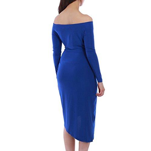 La Modeuse - Robe asymétrique femme Bleu