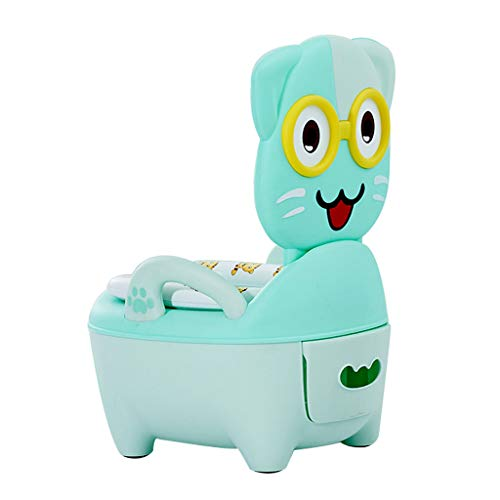 Apprentissage de la propreté Toilette pour Enfants Toilette pour Fille Enfant Enfant Bébé 1-3-6 Ans Urinoir pour Fille Mâle Pot (Couleur : Green)