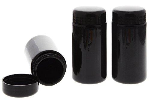 Mironglas Dose 100 ml, Weithals Kosmetex Violett-Glas Vorratsdose m. Schraubverschluss, Miron, 3× 100 ml