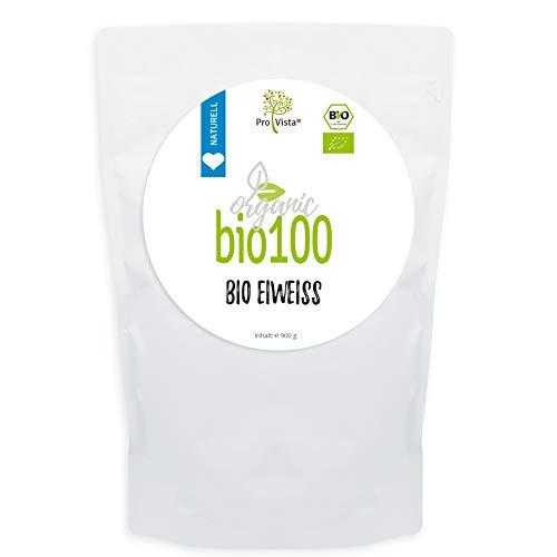 ProVista Bio100 - Bio Micellar Casein (80% Eiweiss) (Naturell) 900g, 100% Bio Protein aus Schweizer Alpenmilch (Vanille Egg Protein)
