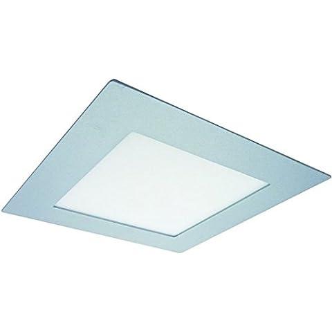 Nobile da incasso LED Panel Flat 150 Q, 9 W, Titan - opaco/bianco caldo NO-1561504112
