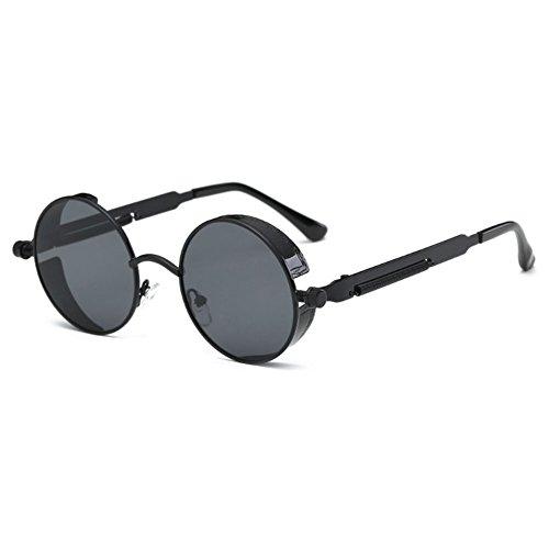 hibote UV400 Unisex Steampunk Runde Sonnenbrille Color (Sonnenbrille Hop Hip)