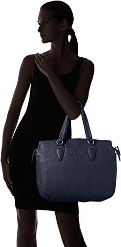 Liebeskind Berlin YamagataW vintag, Sacs portés épaule Bleu - Blau (midnight blue 5835)