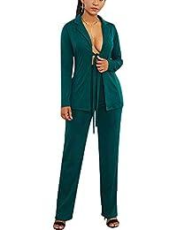 Amazon it pantalone Verde Tailleur e giacche Tailleur SvwCxO0
