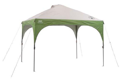 Zelt Event (Coleman Pavillon Instant Shelter, Sonnenschutz und Partyzelt, grau/grün (305 x 305 x 285 cm))