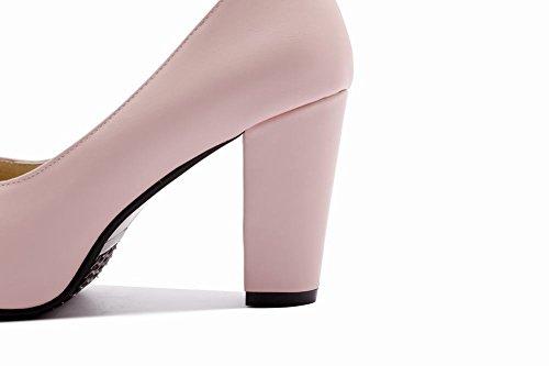 MissSaSa Donna Scarpe col Tacco Alto Boemia e Elegante Rosa