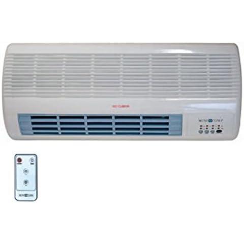 CE04201 Calefactor split de pared, 2000 W, cerámico, 2 posiciones,ventilacion, temporizador, MUNDOCLIMA