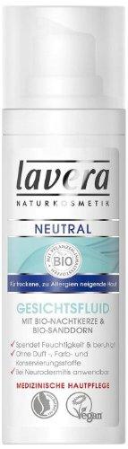 lavera Neutral Gesichtsfluid ∙ Trockene zu allergien neigende Haut ∙ vegan ✔ Bio Pflanzenwirkstoffe ✔ Naturkosmetik ✔ Natural & innovative ✔ Gesichtspflege, 1er Pack (1 x 30 ml)