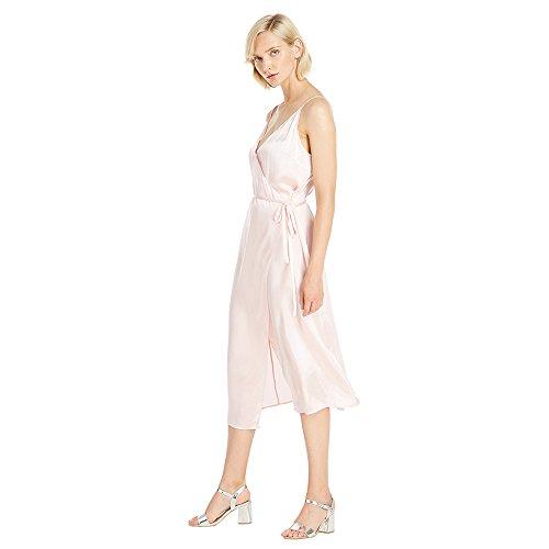 LILYSILK Seide Abendkleid Partykleid Charment V-Ausschnitt Cocktailkleid Abendmode Damen Kurz 22 Momme Hell Rosa