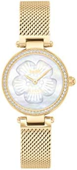 COACH PARK WOMEN's WHITE MOTHER OF PEARL DIAL WATCH - 1450