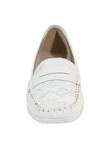 By Shoes - Damen Mokassins Weiß