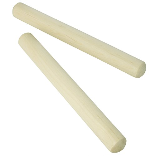 Theodore Wooden Claves - Natural - Pair of Rhythm Sticks