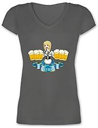 Damen Girlie T-Shirt Frequenz-Beer Bier Getränke Kirmes Party Oktoberfest