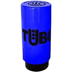 TUBOPLUS BOTE PRESURIZADOR DE PELOTAS DE PADEL Y TENIS (AZUL ELÉCTRICO) AHORRA BOLAS POR UN TUBO - MÁS VIDA PARA TUS BOLAS - 100X100 ESPAÑOL