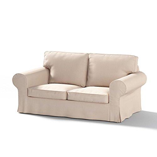 Ektorp Sofa (Dekoria Fire Retarding IKEA IKEA EKTORP 2er Sofa Cover–Light Beige mit gewebte Textur)