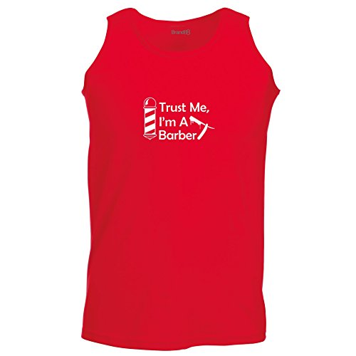 Brand88 - Trust Me, I'm A Barber, Unisex Athletic Weste Rot