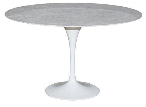 lo scrigno arredamenti tavolo rotondo tulip piano vetro marmo diametro 100 rt335rbd amazonit casa e cucina
