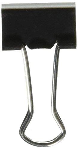 Universal 10200VP Kleine Binder Clips, zip-seal Tasche, 3/20,3cm Kapazität, 3/10,2cm breit, schwarz, 144/Tasche