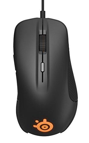 SteelSeries Rival 300 Optische Gaming-Maus (6 Tasten, Gummierte seitliche Griffflächen) schwarz - 2