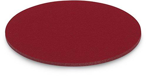 FILU Platzsets aus Filz 4er-Pack Dunkelrot rund (Farbe und Form wählbar) 35 cm Durchmesser