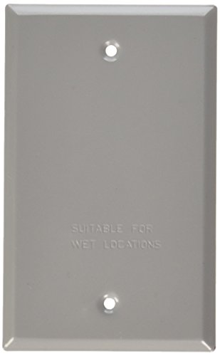 Bell al aire libre 5173 – 0 gris Single Gang en blanco interruptor placa cubierta