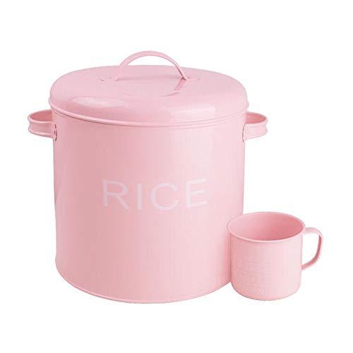 LIYANCMX Küchennahrungsmittelbehälter 7.5kg Siegel Feuchtigkeitsfestes Mehl/Hundefutter/Katzenfutter mit Mit Meßbecher Vorratsdosen - Food Pet Metall Storage