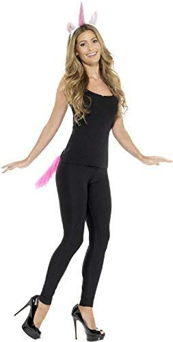 Fancy Me Damen Einhorn Schwanz Tier Henne Do Nacht Party Spaß Halloween Karneval Kostüm Kleid Outfit Satz