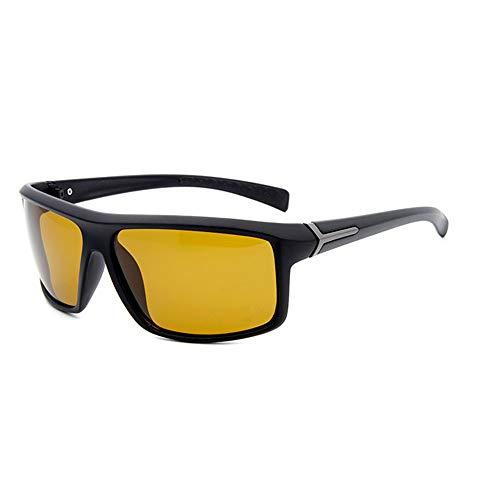 shixiaodan Herren Sonnenbrille Polarisierte, Klare Nachtsicht, Blendung, Autofahren, polarisiertes Autofahren für Männe