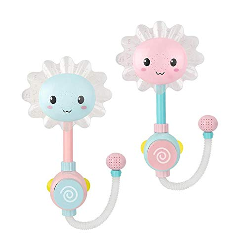 Baby-Bad Dusche Spielzeug Sonnenblume-Dusche Sprühen Sie Spaß Hahn Baby Badauslauf Schwimmen Spielen Badezimmer-Spielzeug Geschenke Baden