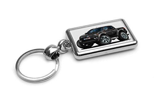 wickedartz-cartoon-car-mitsubishi-l-200-pick-up-black-premium-metal-key-ring